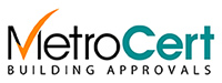 Metrocert Building Approvals Mobile Logo